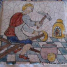 Antigüedades: AZULEJO ANTIGUO DE OFICIO - CALDEDERO.. Lote 32561776