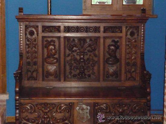 mueble arcon banco madera de cerezo excelente t - Comprar Sillas ...