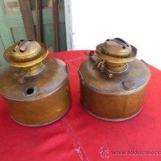 Antigüedades: PARTEJA DE QUINQUES VALENCIANOS DE LA MARCA JUBONET SIN TULIPAS. Lote 32571388