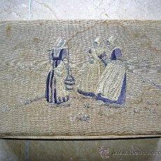 Antigüedades: COSTURERO CAJA HOLANDESA BORDADA A MANO. Lote 32573931