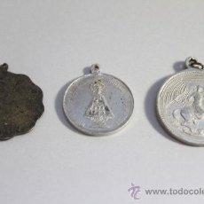 Antigüedades: 3 ANTIGUAS MEDALLAS RELIGIOSAS. Lote 33210672
