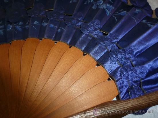 Antigüedades: abanico tela y madera - Foto 8 - 32614352