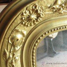 Antigüedades: BONITO ESPEJO DORADO DE GRANDES DIMESNIONES EN MADERA. Lote 32592591