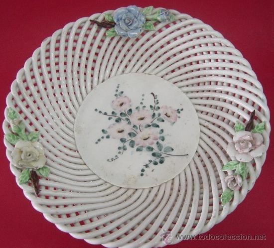 CENTRO DE MESA EN CERÁMICA (Antigüedades - Porcelanas y Cerámicas - Azulejos)