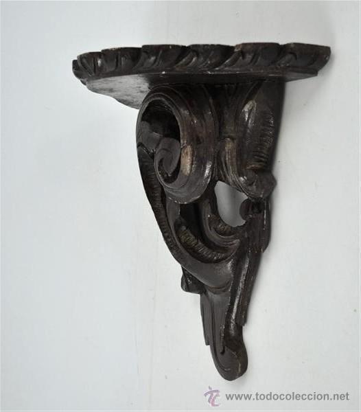 MENSULA DE MADERA DE CASTAÑO (Antigüedades - Muebles Antiguos - Ménsulas Antiguas)