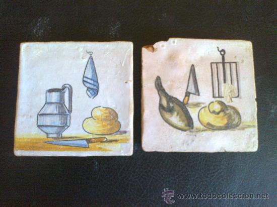 LOTE AZULEJOS SIGLO XVIII (Antigüedades - Porcelanas y Cerámicas - Azulejos)