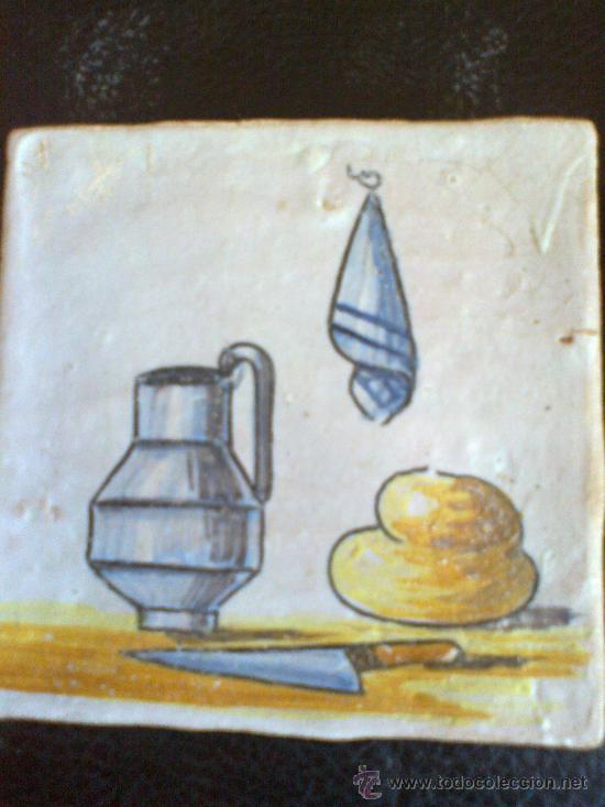 Antigüedades: azulejo 12,5 x 12,5 centímetros - Foto 2 - 32609953