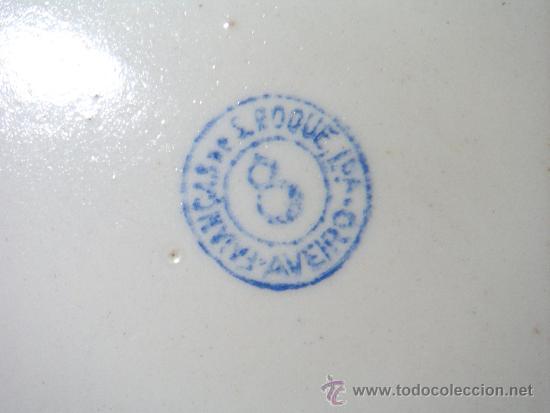 Antigüedades: Antigua fuente en loza portuguesa Faiança S. Roque - Foto 4 - 32618552