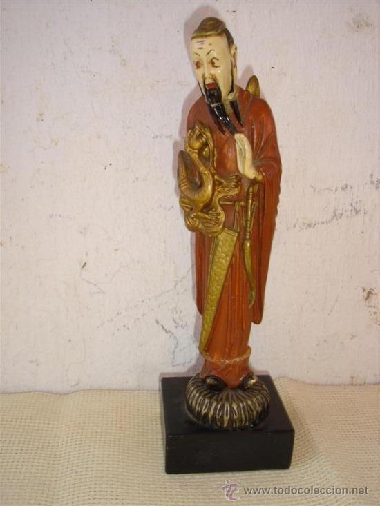 Antigüedades: figura oriental en marfiniti - Foto 2 - 32597962