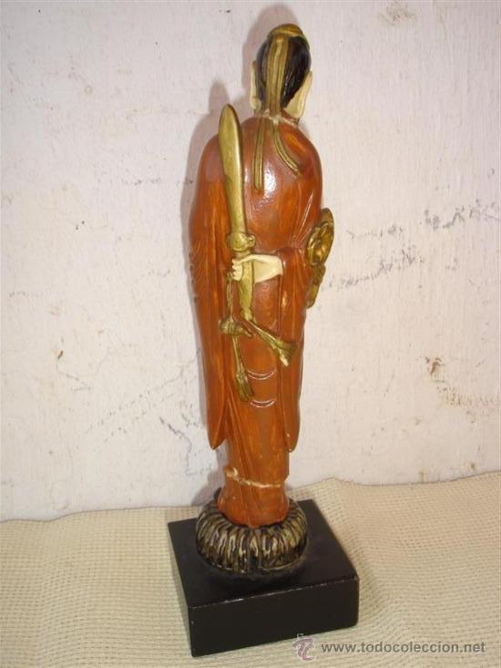 Antigüedades: figura oriental en marfiniti - Foto 3 - 32597962