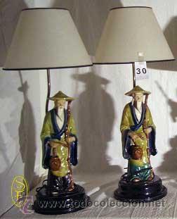 PAREJA DE LÁMPARAS (Antigüedades - Iluminación - Lámparas Antiguas)
