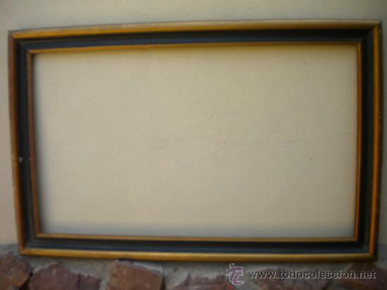 marco dorado y negro, 85x50, ancho de la madera - Comprar Marcos ...