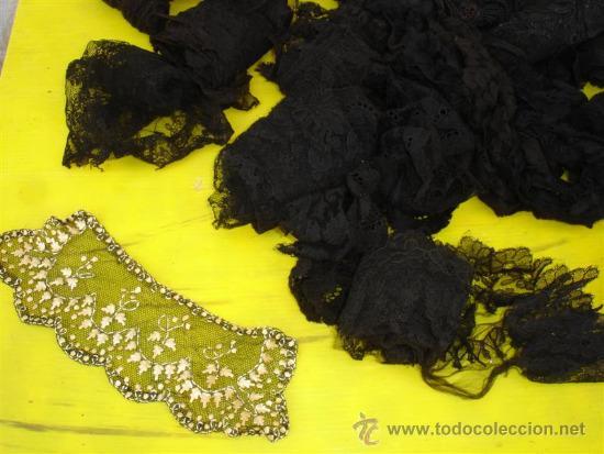 Antigüedades: royos de encajes antiguos negro - Foto 4 - 32645213