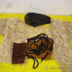 Antigüedades: CAMISA,GORRO ETC ANTIGUO ENCAJE Y BORDADOS. Lote 32645656