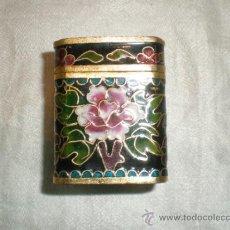 Antigüedades: CAJA DE ESMALTE CLOISONNE. Lote 32662797