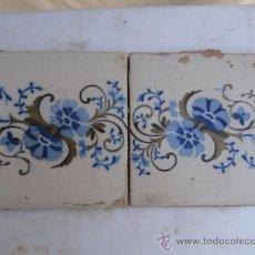 Antiquités: LOTE DE 2 ANTIGUOS AZULEJOS PARA ENMARCAR.. Lote 32656790