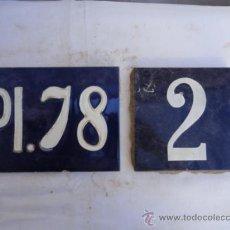 Antigüedades: 2 AZULEJOS DECORATIVOS.. Lote 32656972