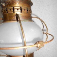Antigüedades: ANTIGUO FAROL TIPO BARCO ELECTRIFICADO. Lote 32673749