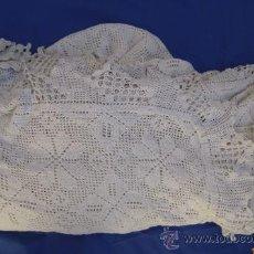 Antigüedades: COLCHA DE GANCHILLO PARA CAMA DE MATRIMONIO DE 3M. POR 2,85 M.. Lote 32679747