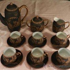 Antigüedades: JUEGO DE CAFE DE PORCELANA JAPONESA. 6 SERVICIOS. Lote 32680617