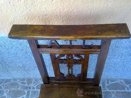 Antigüedades: antigua silla reclinatorio. - Foto 3 - 32692571