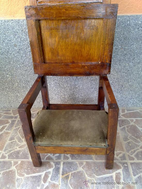 Antigüedades: antigua silla reclinatorio. - Foto 4 - 32692571