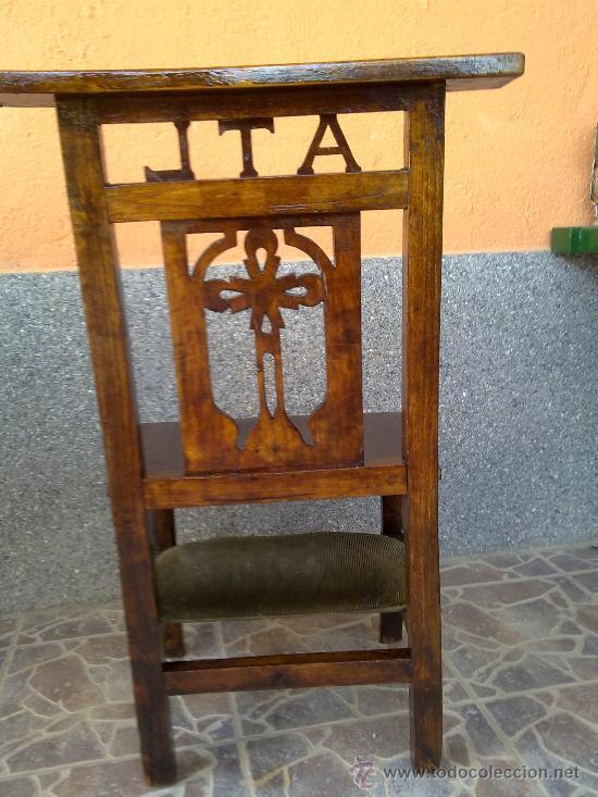 Antigüedades: antigua silla reclinatorio. - Foto 5 - 32692571