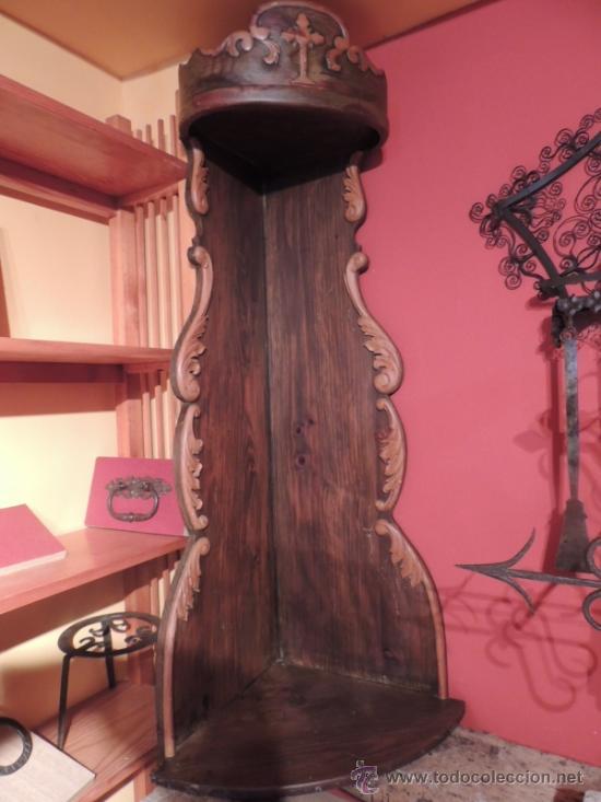 esquinero antiguo de madera maciza para colocar - Comprar Muebles ...