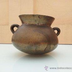 Antigüedades: ANTIGUA OLLA CATALANA EN BRONCE, DEL SIGLO XVIII.. Lote 32697717
