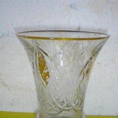 Antigüedades: JARRON DE CRISTAL Y DORADO. Lote 32701258