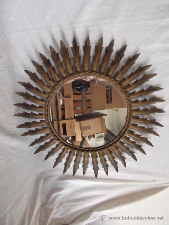 espejo redondo forma de sol vintage cm diametro vintage