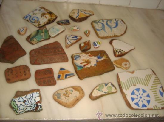 Antigüedades: magnifica coleccion de azulejos pintados a mano y restos de ceramicas muy antiguas una pickman, ver - Foto 37 - 32717748