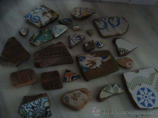Antigüedades: magnifica coleccion de azulejos pintados a mano y restos de ceramicas muy antiguas una pickman, ver - Foto 36 - 32717748