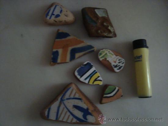 Antigüedades: magnifica coleccion de azulejos pintados a mano y restos de ceramicas muy antiguas una pickman, ver - Foto 27 - 32717748