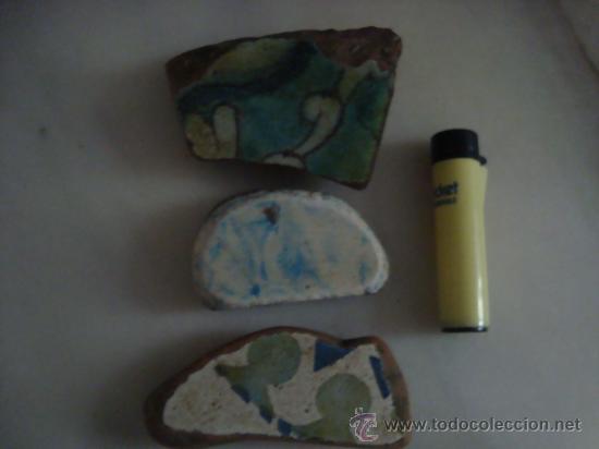 Antigüedades: magnifica coleccion de azulejos pintados a mano y restos de ceramicas muy antiguas una pickman, ver - Foto 21 - 32717748