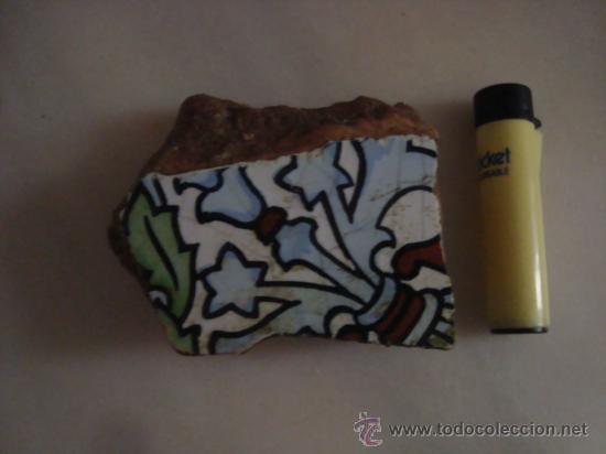 Antigüedades: magnifica coleccion de azulejos pintados a mano y restos de ceramicas muy antiguas una pickman, ver - Foto 15 - 32717748