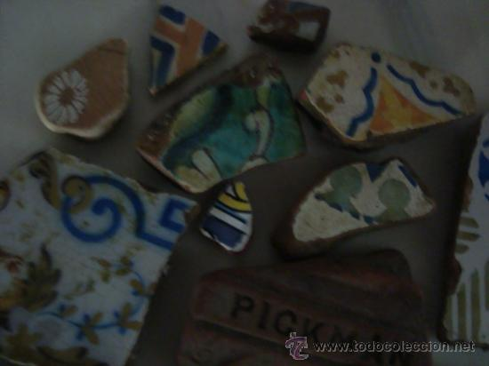 Antigüedades: magnifica coleccion de azulejos pintados a mano y restos de ceramicas muy antiguas una pickman, ver - Foto 5 - 32717748