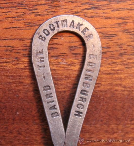Antigüedades: ANTIGUO CALZADOR DE BOTAS BAIRD – THE BOOTMAKER – EDINBURGH MADE IN FRANCE - Foto 2 - 32773107