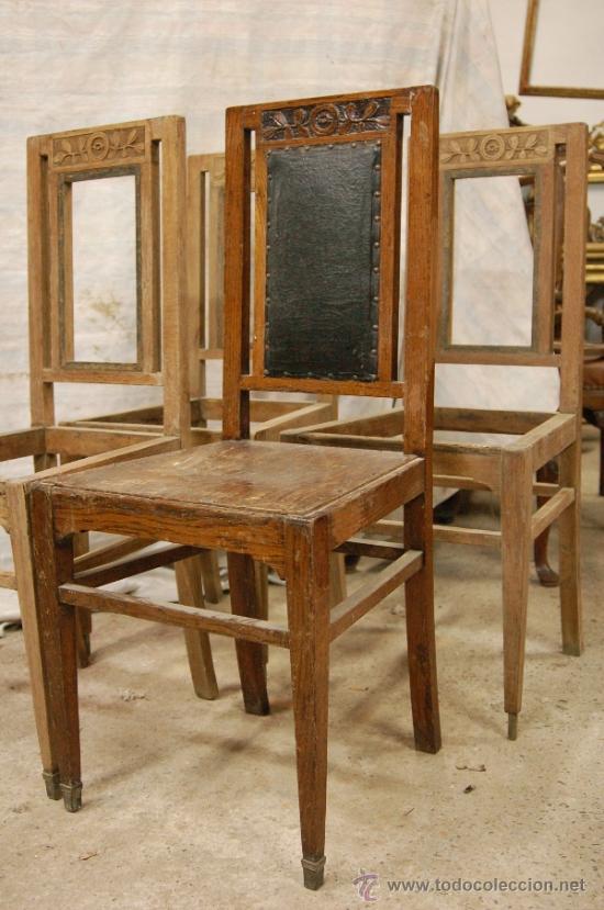 Cuatro sillas modernistas comprar sillas antiguas en for Muebles modernistas