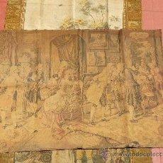 Antigüedades: ANTIGUO TAPIZ DE FINALES DEL SIGLO XIX- ESCENA CORTESANA. Lote 32785408