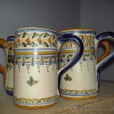 Antigüedades: 4 TAZAS JARRAS TALAVERA. Lote 32795944