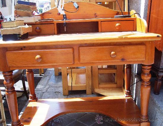 Escritorio madera de pino macizo franc s colo comprar escritorios antiguos en todocoleccion - Escritorio de pino ...