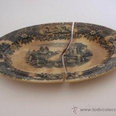 Antigüedades: ENSALADERA OVALADA PICKMAN SEVILLA - FINALES XIX. Lote 32826703