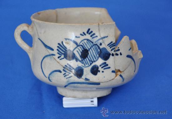 LOZA DE TRIANA DE PÉTALOS RAYADOS DEL SIGLO XVIII. (Antigüedades - Porcelanas y Cerámicas - Triana)