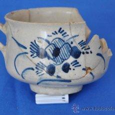 Antigüedades: LOZA DE TRIANA DE PÉTALOS RAYADOS DEL SIGLO XVIII.. Lote 32815554