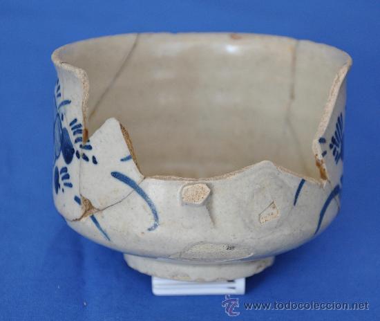 Antigüedades: Loza de Triana de pétalos rayados del siglo XVIII. - Foto 6 - 32815554