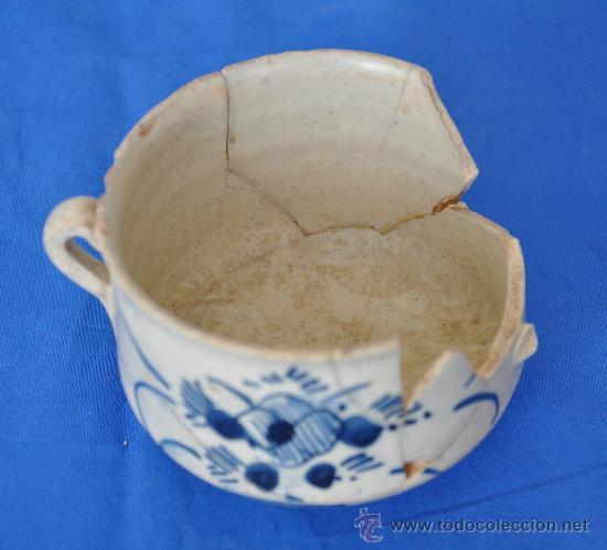 Antigüedades: Loza de Triana de pétalos rayados del siglo XVIII. - Foto 5 - 32815554
