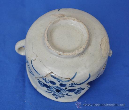 Antigüedades: Loza de Triana de pétalos rayados del siglo XVIII. - Foto 4 - 32815554