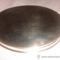 Antigüedades: ESPEJO PARA BOLSO DE PLATA. Lote 32819994