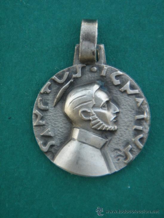 MEDALLA RELIGIOSA EN PLATA CONTRASTADA -S. IGNATIUS (IGNACIO)-. 1,7 CMS DE DIÁMETRO. (Antigüedades - Religiosas - Medallas Antiguas)